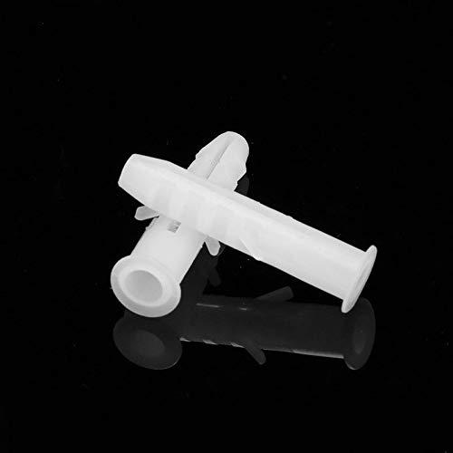 HMYDZ 50PCS 5-8mm Schrauben M5-M8 Gummiexpansionsrohr Flachrundkopf Bohrschraube Nylon Rohrwand Holz Hardware-Tool (Color : White, Size : M5x25)