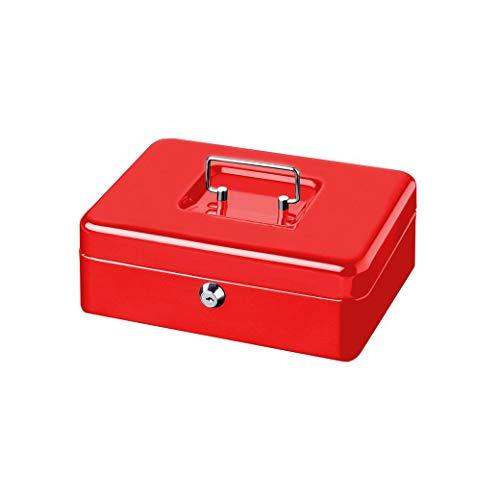 BURG-WÄCHTER Geldkassette, MONEY 5015, Stahlblech, Rot, Inkl. 2 Schlüssel und Hartgeldeinsatz