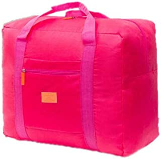 FidgetGear Travel Big Size Foldable Luggage Bag Clothes Storage Carry-On Duffle Bag Orange Pink One Size