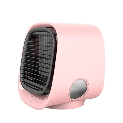 Halllo Mini aire acondicionado portátil de escritorio, muy silencioso, para casa, oficina o sala de estar