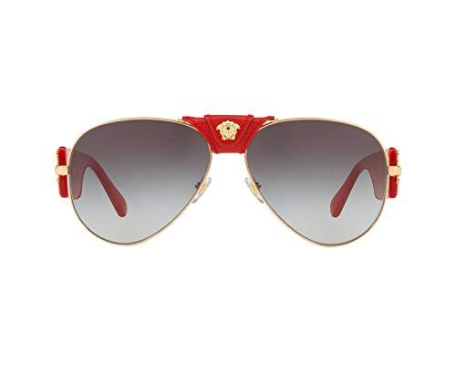 Price comparison product image Versace VE2150Q Sunglasses 100211-62 - Gold Frame,  Grey Gradient VE2150Q-100211-62