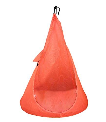 asdf Hamaca Hogar Hamaca para Niños Silla Hamaca para Niños Góndola Góndola para Interiores Al Aire Libre Hamaca Muebles De Exterior (Naranja)