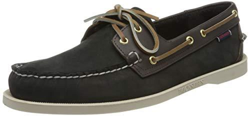 Sebago Portland Spinnaker NBK FGL, Men's 7000H30 Boat Shoes Black-Dk Brown 12 UK Uomo, 47 EU