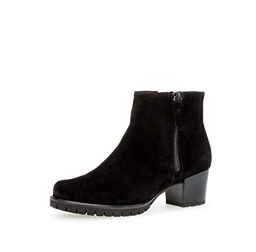 Gabor Damen elegante Stiefeletten, Frauen Ankle Boots,Wechselfußbett,COMFORT-Mehrweite, bootie knöchelhoch,schwarz (Flausch),42.5 EU / 8.5 UK