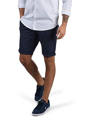 Blend Bruno Herren Chino Shorts Bermuda Kurze Hose Mit Gürtel Regular Fit, Größe:XL, Farbe:Navy (70230)