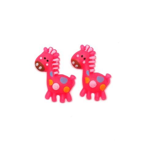 Idin Orecchini a clip - Giraffa rosa (ca. 15 x 25 mm)