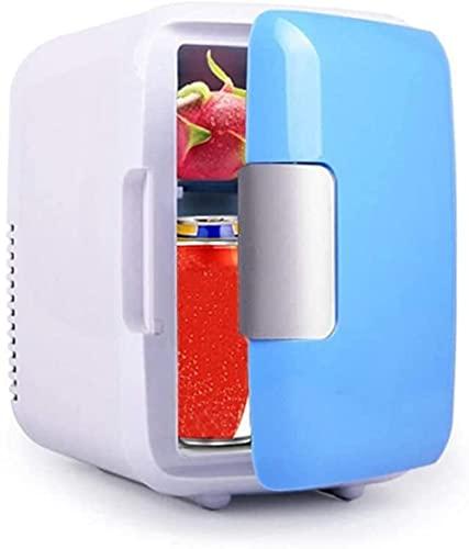 Mini refrigerador de 4 litros para refrigeración, pequeño refrigerador portátil de temperatura constante para uso en el hogar y el coche (nido : coche familiar de doble uso rosa/azul_para coche
