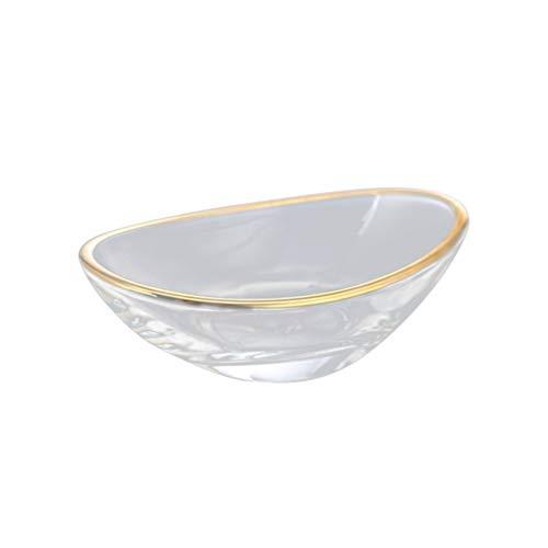 DOITOOL Glassauce Gerichte Golden Edge Gewürz Gerichte Mini Schüssel Sushi Dip Schüssel Untertassen Schüssel Mini Vorspeise Teller