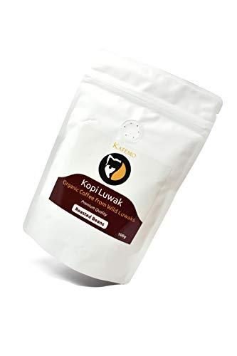 Kopi Luwak Premium (Kaffee von freilebenden Tieren) - Geröstete Kaffeebohnen - Die seltensten Kaffee der Welt -
