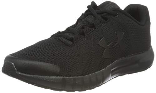 Under Armour Grade School Pursuit Running Shoe, Black (002)/Black, 3.5 US Unisex Big Kid