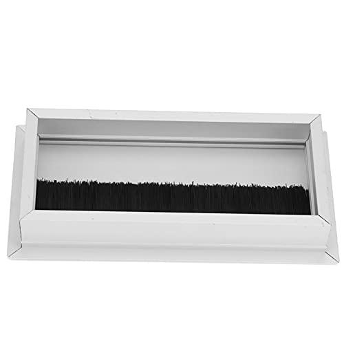 Ojal de cable, cubierta de orificio de alambre rectangular Oraganizer computadora de escritorio aleación de aluminio para el hogar para la oficina