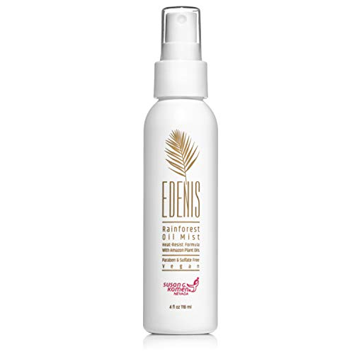 EDENIS Certified Organic Rainforest Dry Oil Hair Mist for Heat Protection & Shine | Vegan, Cruelty-Free, Lightweight Non-Greasy Formula with Amazon Oil Protect & Detangle Hair Spray - 4 fl oz