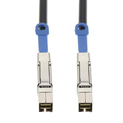 Gazechimp Mini SAS SFF 8644 Zu Mini SAS SFF 8644 Externes Kabel Für SAS Expander - Schwarz 0,5M