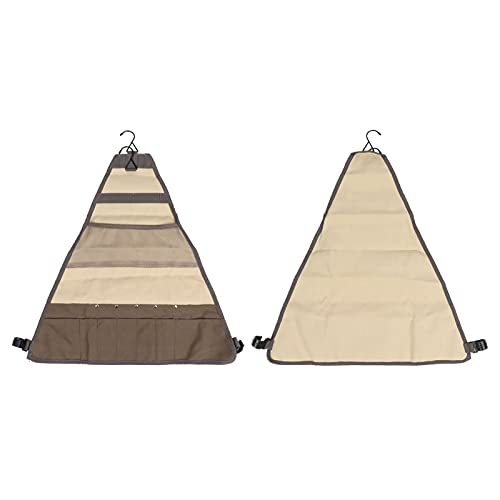 FECAMOS Bolsa Colgante, cómoda Experiencia gastronómica al Aire Libre Fácil de Transportar Diseño de múltiples Compartimentos Bolsa de Herramientas Multiusos de fácil Transporte para picnics