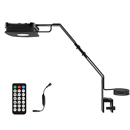Lominie Acquario LED Light, 4 Canali WiFi e RF Remote Dimmerabile 30W Fish Tank Light Pixie 30 con Staffa per Pesci di Acqua Salata e Reef Coral Tank (P30 Saltwater)
