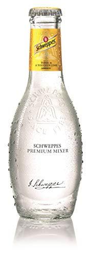 12 Flaschen Schweppes Premium Mixer Tonic & a touch of Lime a 0,2L in der Glas Flasche inc. 1.80€ MEHRWEG Pfand