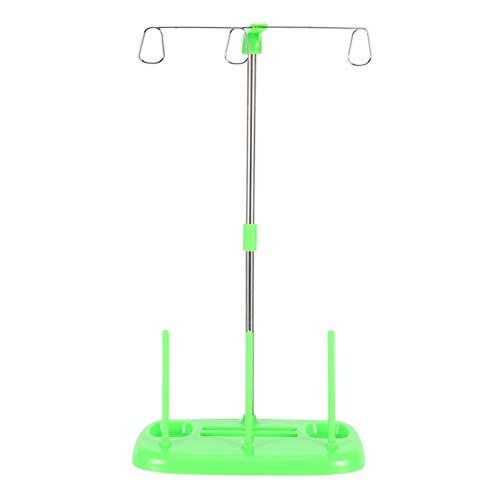 Soporte de carrete de soporte de hilo de bordado de 3 conos para el hogar, todas las máquinas de coser industriales y domésticas, soporte de cono Overlock(1#)