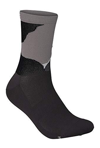 POC Essential Print Sock Calzini, Color Splashes Multi Sylvanite Grey, L Unisex-Adulto
