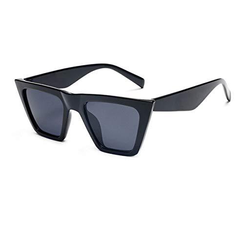 YOJUED Gafas de sol retro con ojo de gato, unisex, vintage, con marco cuadrado, protección UV 400