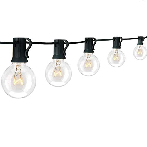 Margotroom Outdoor String Lights, G40 Globe String Lights Warm White 25Ft with 27 Clear Bulbs for Indoor Outdoor Decor Home Garden Yard Terrace Party Cafe Christmas Wedding Bedroom Decoration