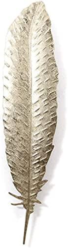 Decoraciones de pared, Decoración de la pared, colgante de la pared de metal EUROPE Golden Dance Feather Artwork Colgante con lámina de oro Artesanía Arte de la sala de estar 5 Estilo (Tamaño: 17x71cm