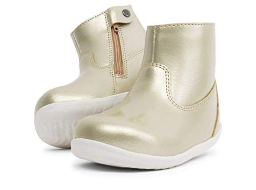 Bobux Step Up Paddington Winter Boots_Erste Schritte – ein Lederstiefel, Merino-Wollfutter, interne wasserdichte Membran, Gold - Gold - Größe: 20 EU