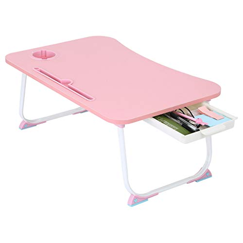 FiveShops Laptop Bed Table Tray, Portable Lap Desk Stand, Multifunction Lap Tablet with Cup Holder Perfect for Eating Breakfast, Reading Book, Working,Watching Movie on Bed/Couch/Sofa/Floor