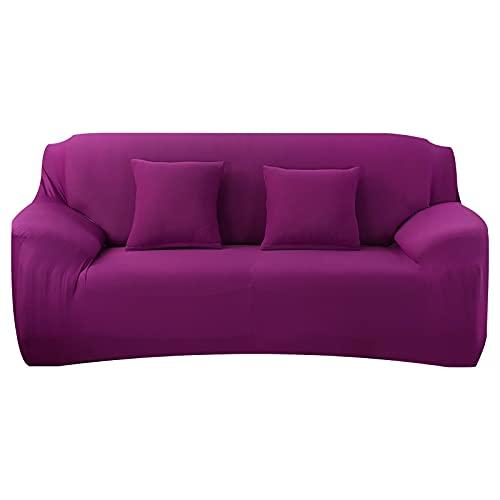 WXQY Funda de sofá elástica, Toalla de sofá, Funda de sofá Antideslizante para Sala de Estar, Funda Protectora a Prueba de Polvo Totalmente Envuelta A19 2 plazas