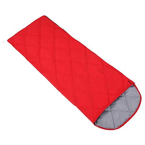 FAN Outdoor Camping Schlafsack Umschlagtyp Sommer Mittagspause Camping Schlafsack Erwachsene Vier Jahreszeiten Schlafsack, Red,800g