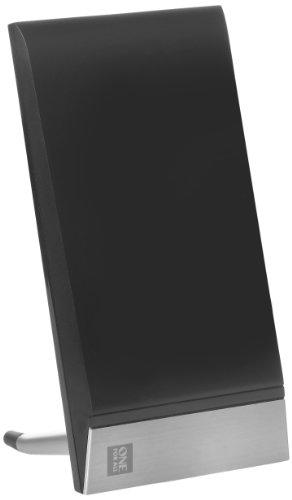 One For All DVB-T/DVB-T2 Indoor/Zimmerantenne - 4K 1080P HD/HDTV Fernseher TV Antenne mit Verstärker - 0-15 km Reichweite – 1.5 meter Koaxialkabel - UHF/VHF - Schwarz - SV9335