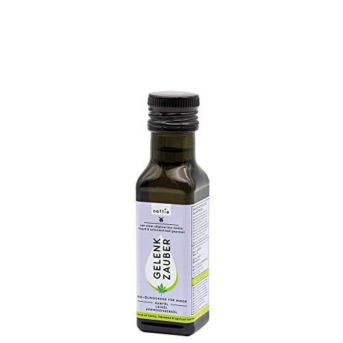 naftie Bio Hunde-Öl Gelenk Zauber | Ölmischung aus Hanföl, Leinöl und Aprikosenkernöl | für Bewegungsapparat, Stoffwechsel und Sauerstoffversorgung | vegan | Barf-Öl | 100ml