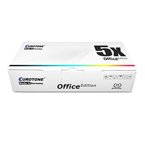 Eurotone - Juego de 5 tóneres compatibles con Lexmark C792 C 792 DE DHE DTE E X792 X 792 DE DTE DTFE DTME DTPE DTSE sustituye a C792A1 CG KG MG YG