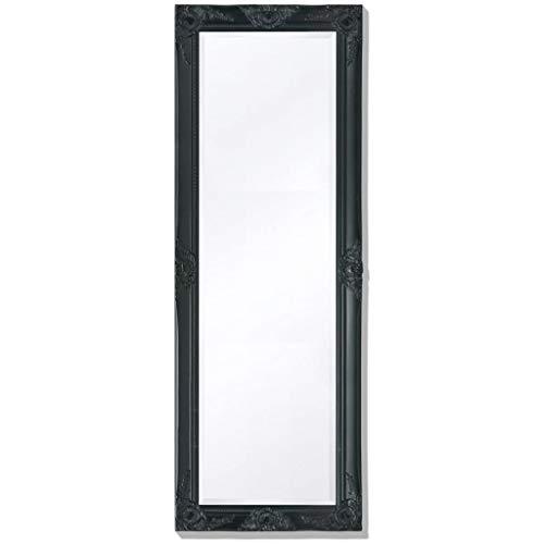 FAMIROSA Espejo de Pared Estilo Barroco 140x50 cm Negro