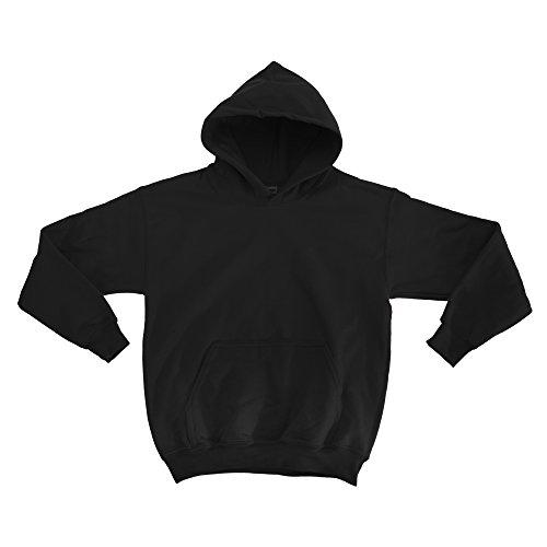 Gildan Kinder Unisex Hoodie / Sweatshirt mit Kapuze S,Schwarz