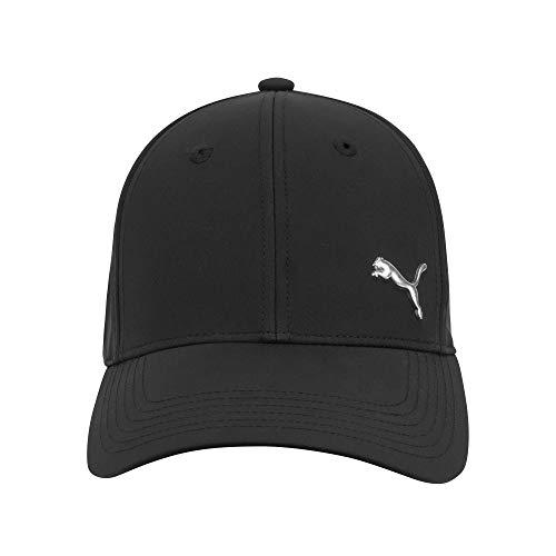 PUMA Stretch Fit Cap, Black/Silver, Large/X-Large
