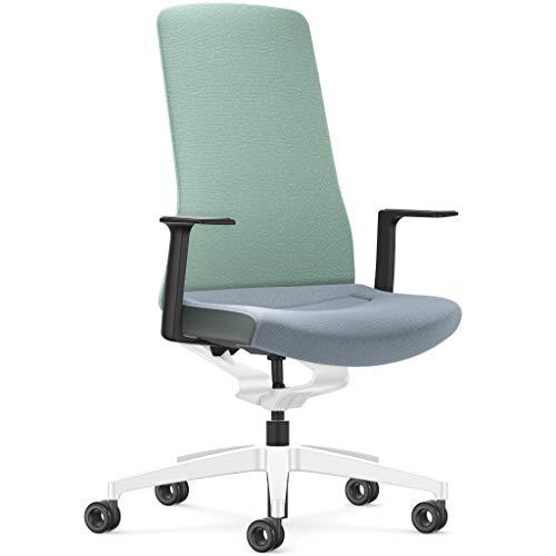 Interstuhl Pure Fashion Edition – Der Bürostuhl passt Sich an Gewicht und Bewegung des Nutzers an – ausgestattet mit der nachgewiesen ergonomischen Smart-Spring Technologie (Minze/Moos)