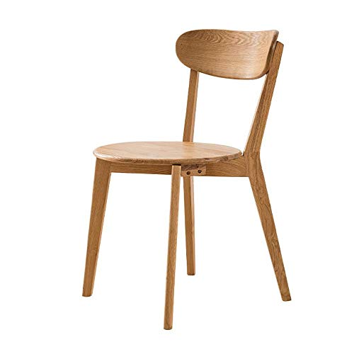 Daily Equipment Dining Chair 2 Chairs Creative Solid Wood Dining Chair Simple Modern Oak Home Chair Fabric Coffee Chair Dining Chairs (Color : Wood Color Size : 45cm x 45cm x 82cm)