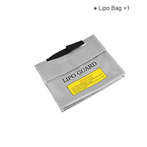 SHUGJAN Incombustible y resistente al agua RC Lipo seguridad de la batería bolsa de 240 * 65 * 180 mm Safe Guard Lipo carga Saco for RC Lipo control remoto Piezas de montaje RC