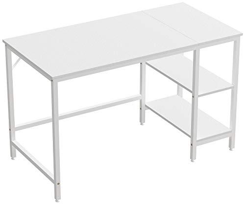 JOISCOPE Scrivania per Computer, Tavolo per Laptop,Tavolo in Stile Industriale Realizzato in Legno e Metallo,120 x 60 x 75 cm(Finitura Bianca)