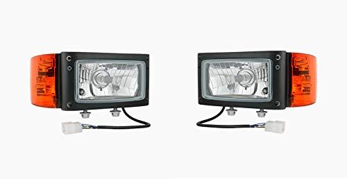 Hauptscheinwerfer Scheinwerfer Positionslicht Blinklicht Blinker L+R Satz H4 12/24V IP55 E20 Prüfzeichen Neu OVP für Baumaschinen Straßenbaumaschinen Bagger Gabelstapler Transporter Radlader Schlepper