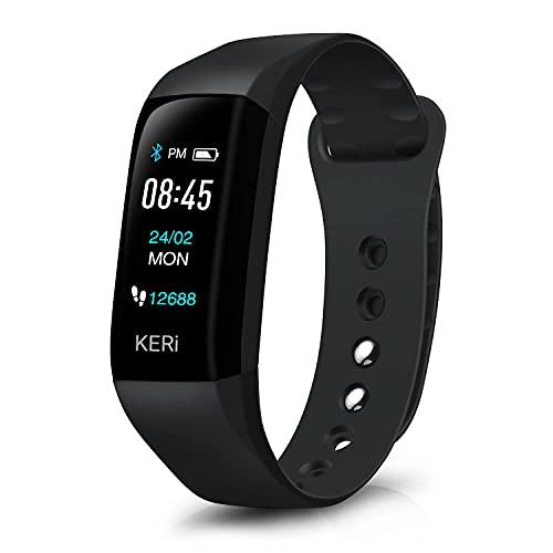 Pulsera Actividad Inteligente para Hombre Mujer - Audar KERi Smartwatch Reloj Deportivo Frecuencia Cardíaca, Oxígeno en Sangre, Presión Arterial Monitor Sueño Fitness Tracker IP67 Podómetro Calorías