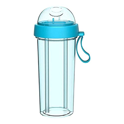 JNML 420 ml, paarbeker, waterkoker, reizen, kamperen, koude waterkoker, wandelen Eén kopje, twee drankjes, twee rietjes, beker voor tweeërlei gebruik, gepersonaliseerde beker, B