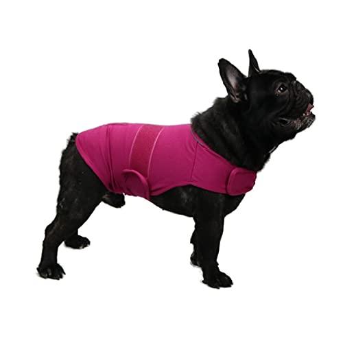 TT.WALK Beruhigungswesten für Hunde,Hundemantel zur Linderung von Angst,Anti Angst Jacke Beruhigende Wickelweste für kleine mittlere und große Hunde,Rosenrot,M