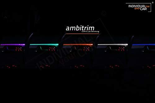 ambitrim® Ambiente Lichtleiste Ambientebeleuchtung für die Türen (4 Türen, RGB-RF)
