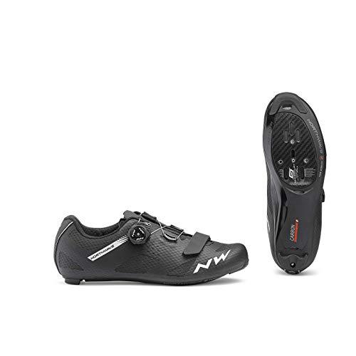 Northwave Sapatos EST NW Storm Carbon, Zapatillas Unisex Adulto, Negro, 45 EU