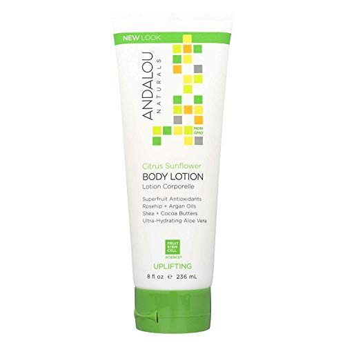 Andalou Naturals Skin Uplifting Body Lotion, Citrus Sunflower, 8 Oz