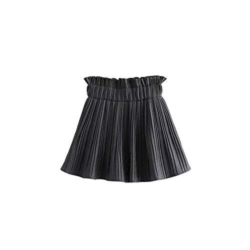 Vrouwen Vintage Plaid Plissé Shorts Rokken Elastische Paperbag Taille Casual Shorts