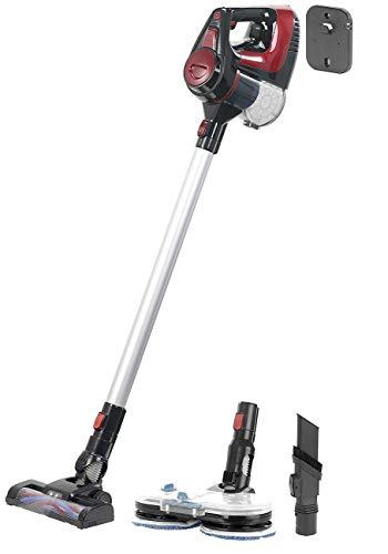 Sichler Haushaltsgeräte Bodenreiniger: 2in1-Akku-Staubsauger- und-Fußbodenpoliermaschine mit 2 Stufen (Poliermaschine)