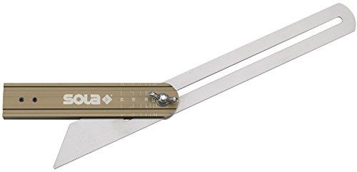 VSTG,Stellwinkel mit Graduierung, 300 mm, Grey/Brown
