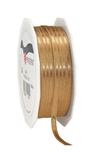 C.E. Pattberg SATIN gold, 50 m Satinband zum Einpacken von Geschenken, 3 mm Breite, Geschenkband zum Dekorieren & Basteln, Dekoband für Präsente, zu jedem Anlass